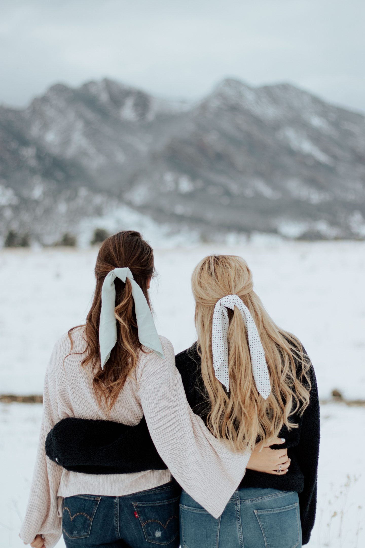 HAIR SCARVES AND SNOWY VIEWS